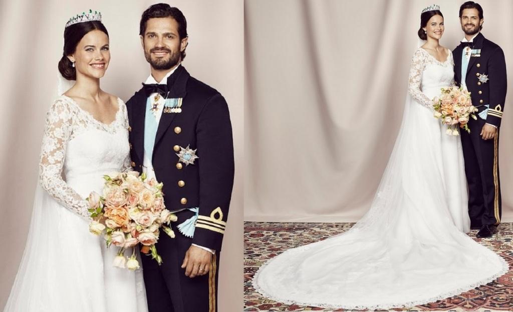 Kráľovské svadby - Princ carl philip zo švédska + sofia hellqvist / 13.06.2015 ... šaty: Ida Sjöstedt