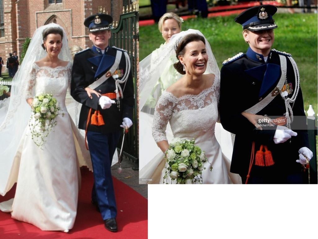 Kráľovské svadby - Prince Pieter-Christiaan z holandska + Anita van Eijk / 25.02.2005 ... šaty:  Frans Hoogendoorn