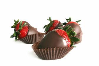 Jahôdky v čokoláde, mňam :)