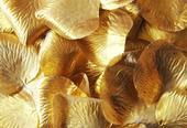 Lupene ruží zlaté 100 ks,