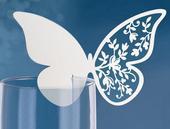 Menovky na stôl motýle vzorované,