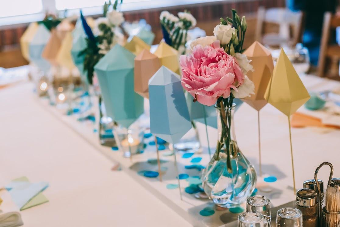Hand made svadobná výzdoba v pastelových farbách - Obrázok č. 1
