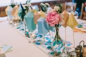 Hand made svadobná výzdoba v pastelových farbách,