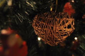 moj výtvor vianočen bambule z vodneho skla a vlny