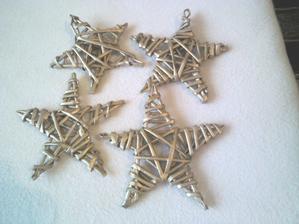 zlate hviezdy upletene z papiera..bez drotu