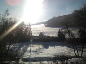 na chate..zimny pohlad z terasy