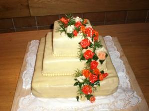 náš dortík byl moooc dobrý