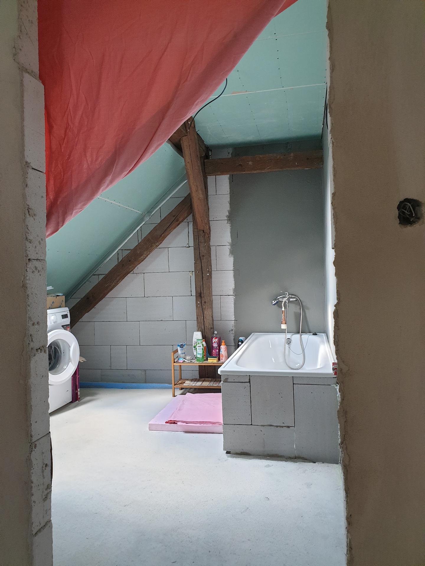 Rekonštrukcia domu-alebo chceme si splniť sen =》🏠🌻🌼🐶  mat domcek a vratit sa na Slovensko - Nová kúpeľňa 😂🥰