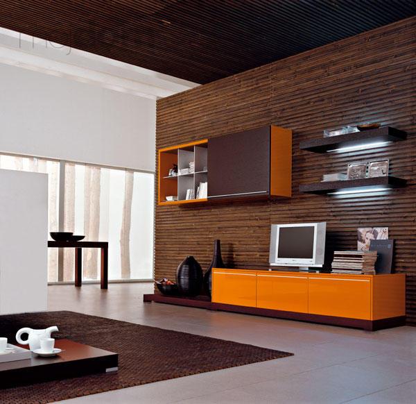 Moje milovane bungalovy - zariadenie, pôdorysy, rozloženie... - Oranzovo-hnedo-čierna kombinacia