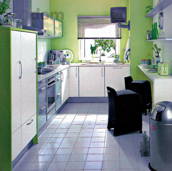 Moje milovane bungalovy - zariadenie, pôdorysy, rozloženie... - V kuchyni telkac:) aj zelenkavo - biela kombinacia je pekna