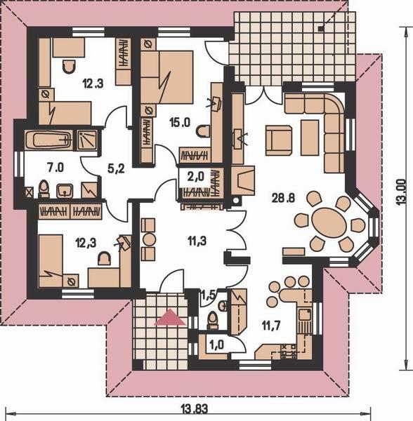Moje milovane bungalovy - zariadenie, pôdorysy, rozloženie... - Obrázok č. 41
