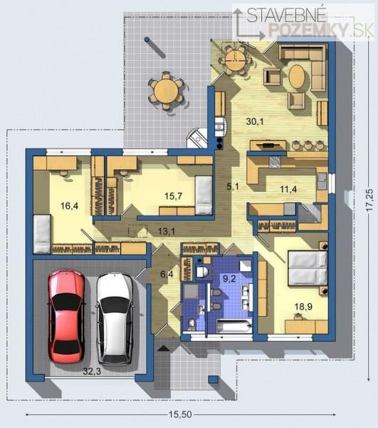 Moje milovane bungalovy - zariadenie, pôdorysy, rozloženie... - Obrázok č. 43