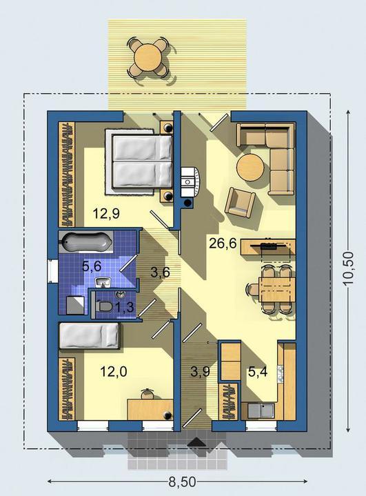 Moje milovane bungalovy - zariadenie, pôdorysy, rozloženie... - Obrázok č. 54