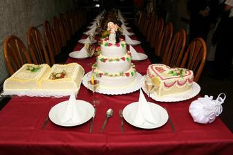 naše svatební dortíky