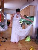 Šaty světlé Ivory šité na míru z Itálie, 39
