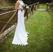 Lace tattoo svatební šaty, 38