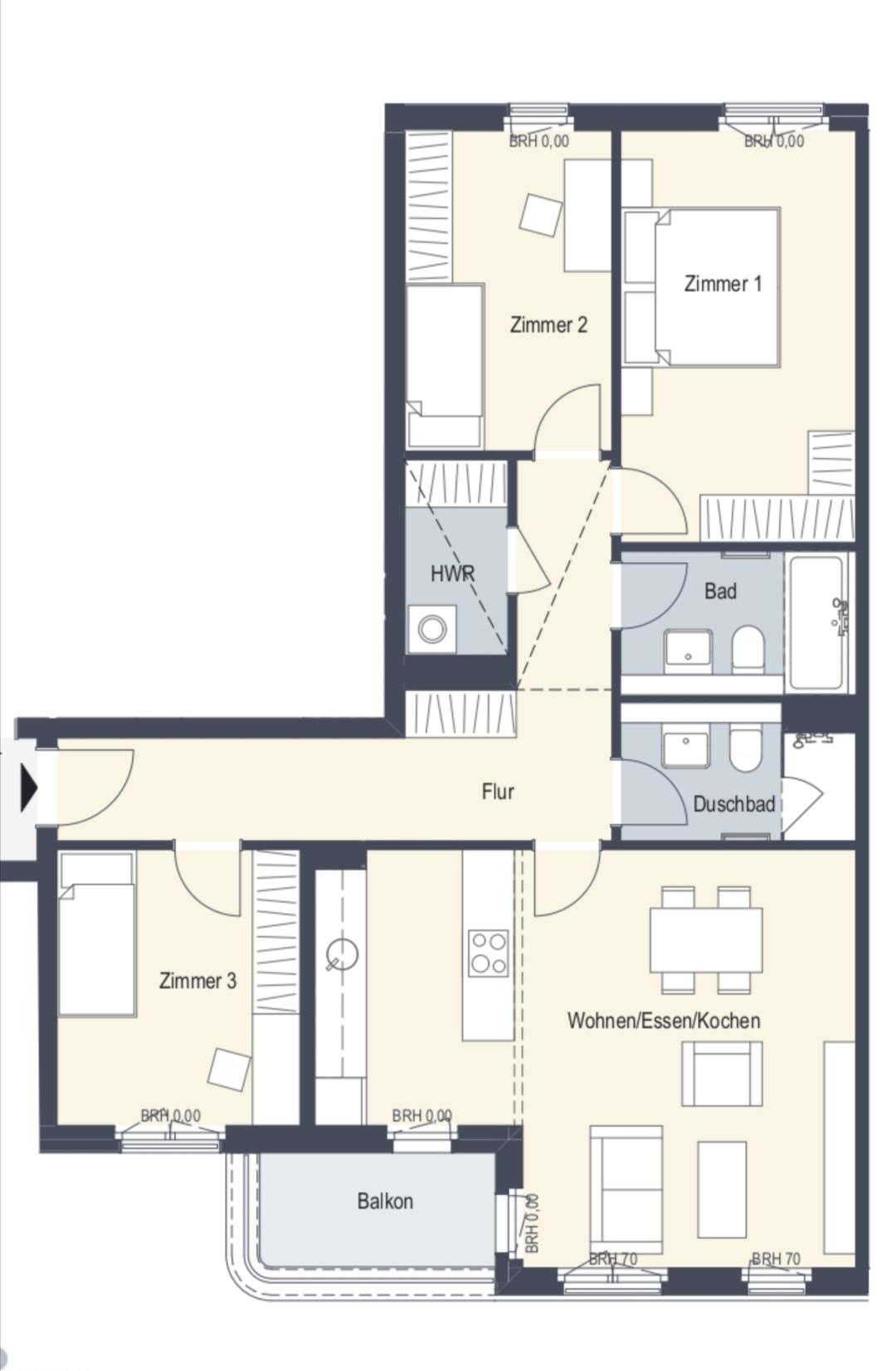 Náš nový byt v novostavbě - Původní plán bytu