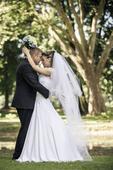 Svatební dvouvrstvý závoj po zem,