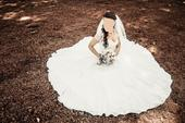 Krajkové svatební šaty šité na míru, 38