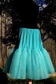 Tyrkysová spodnica na mieru pod krátke svadobné šaty