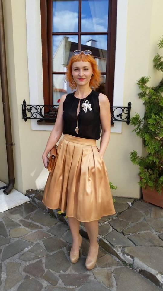 peter_a_lucia - Štýlová áčková sukňa s vreckami