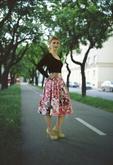 Štýlová áčková sukňa s vreckami