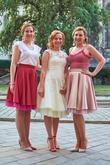 Krátke svadobné šaty, Lo-OK tylové sukne