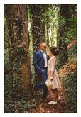 Krátke svadobné šaty (zvlášť bolerko a sukňa)