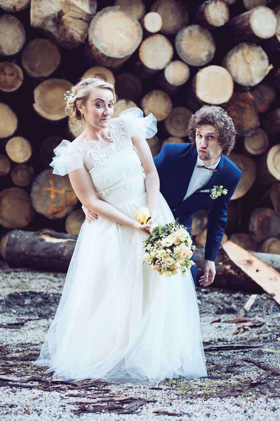peter_a_lucia - Dvojdielné svadobné šaty (čipkované bolerko, dlhá tylová sukňa)