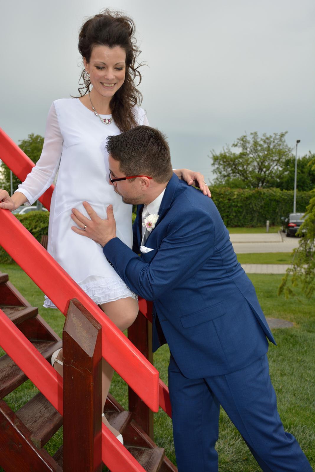 peter_a_lucia - Krátke svadobné šaty pre tehuľku