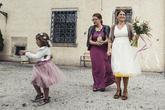 Krátke svadobné šaty s farebnou spodnicou, šaty pre družičku, detská tylová Lo-OK sukňa