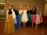 Krátke svadobné šaty + 14 farebná spodnica, Lo-OK sukne pre družičky
