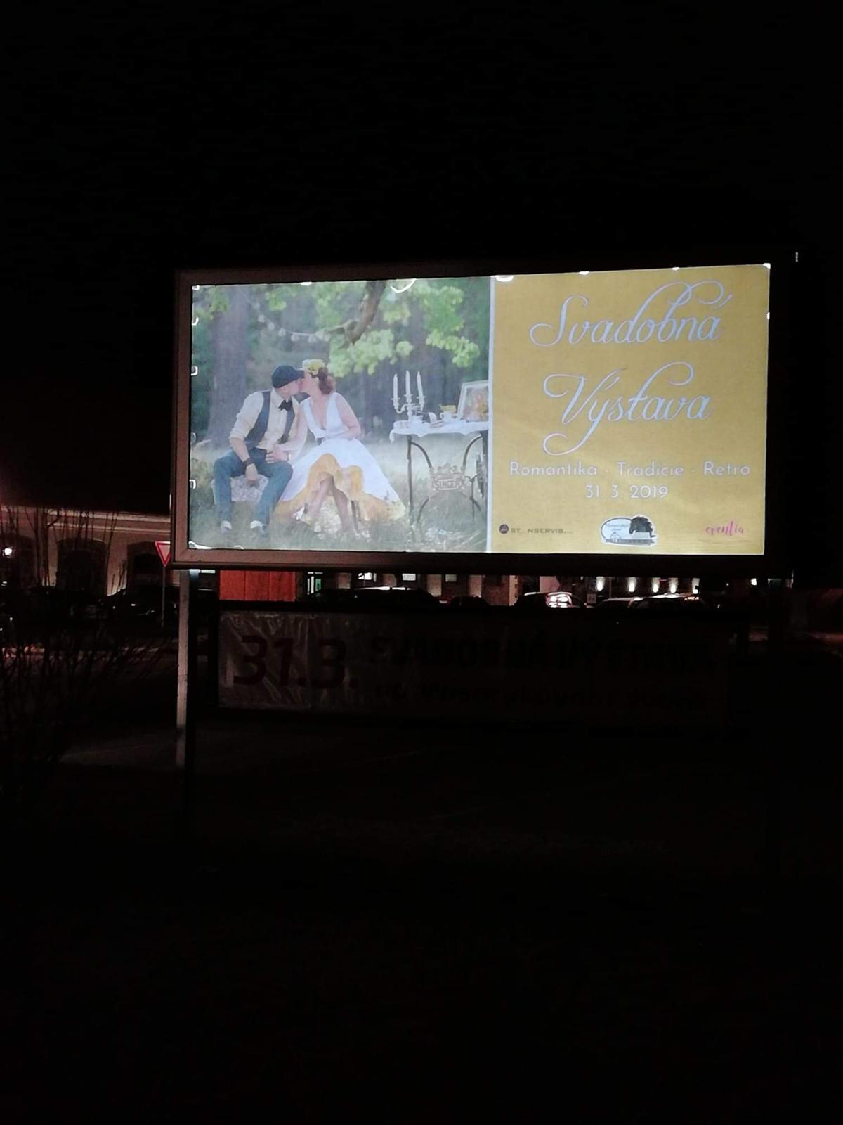 Náš príbeh ❤ a svadobná výstava Masarykov Dvor - Náš prvý bilbord 💏