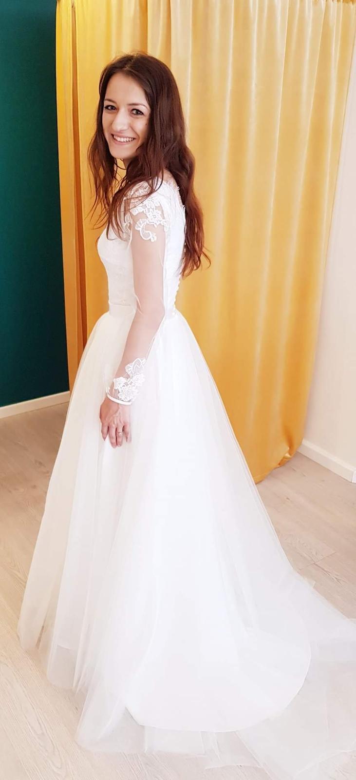 Dvojdielné dlhé svadobné šaty ❤ - Obrázok č. 2