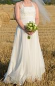 Svadobné šaty so závojom i pre tehotné, 40