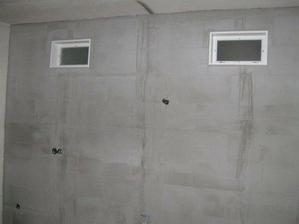 kúpelňové okienka,pohľad z kuchyne , budú rovno nad linkou