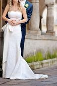 Svadobné šaty čipkované, 36