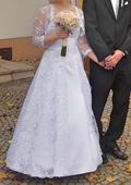 Krajkové svatební šaty pro malé nevěsty - 38-42, 38