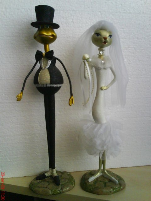 Ivo a Jana, 09.05.2009 - naše svadobné 60 cm figúrky