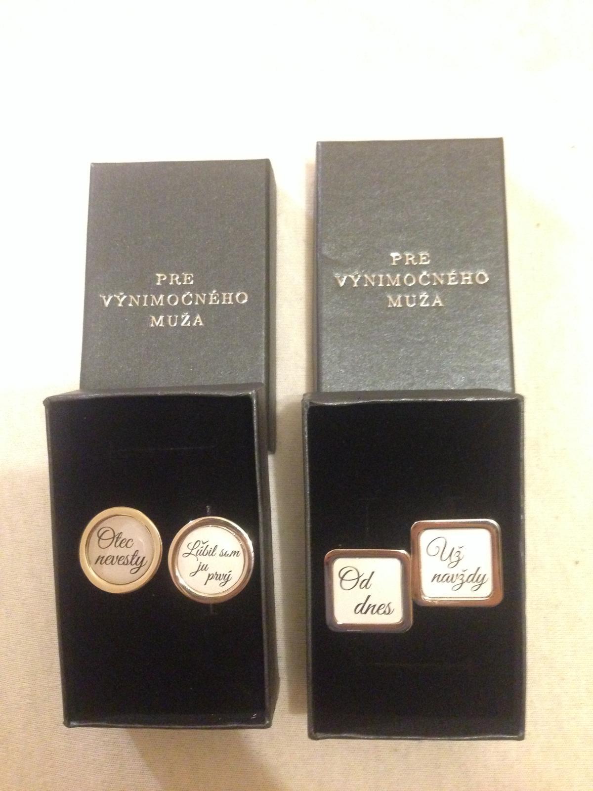 ♥ všetko okolo svadby :D ♥ - manžetové gombíky pre mojich dvoch naj chlapov... pre tatina a pre môjho nastávajúceho :)
