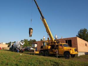 stropy betonování 21.8.2009