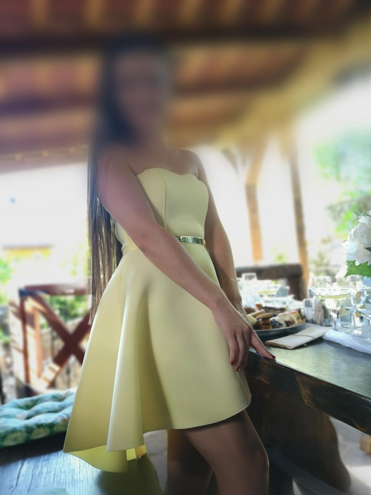 Žlté šaty bez ramienok - Obrázok č. 2