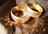 snubní prstýnky s příběhem, dvojté zlato, 10,5g,