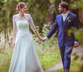 Jednoduché šaty na svatbu v přírodě asi 36-38, 38