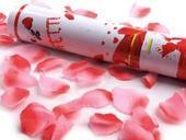 vystrelovacie konfety ružová ruža 28 x 5 cm,