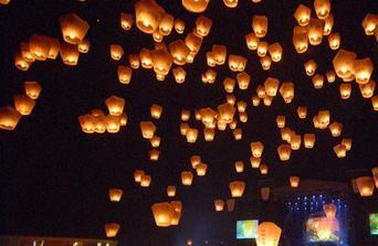 létající lampionky