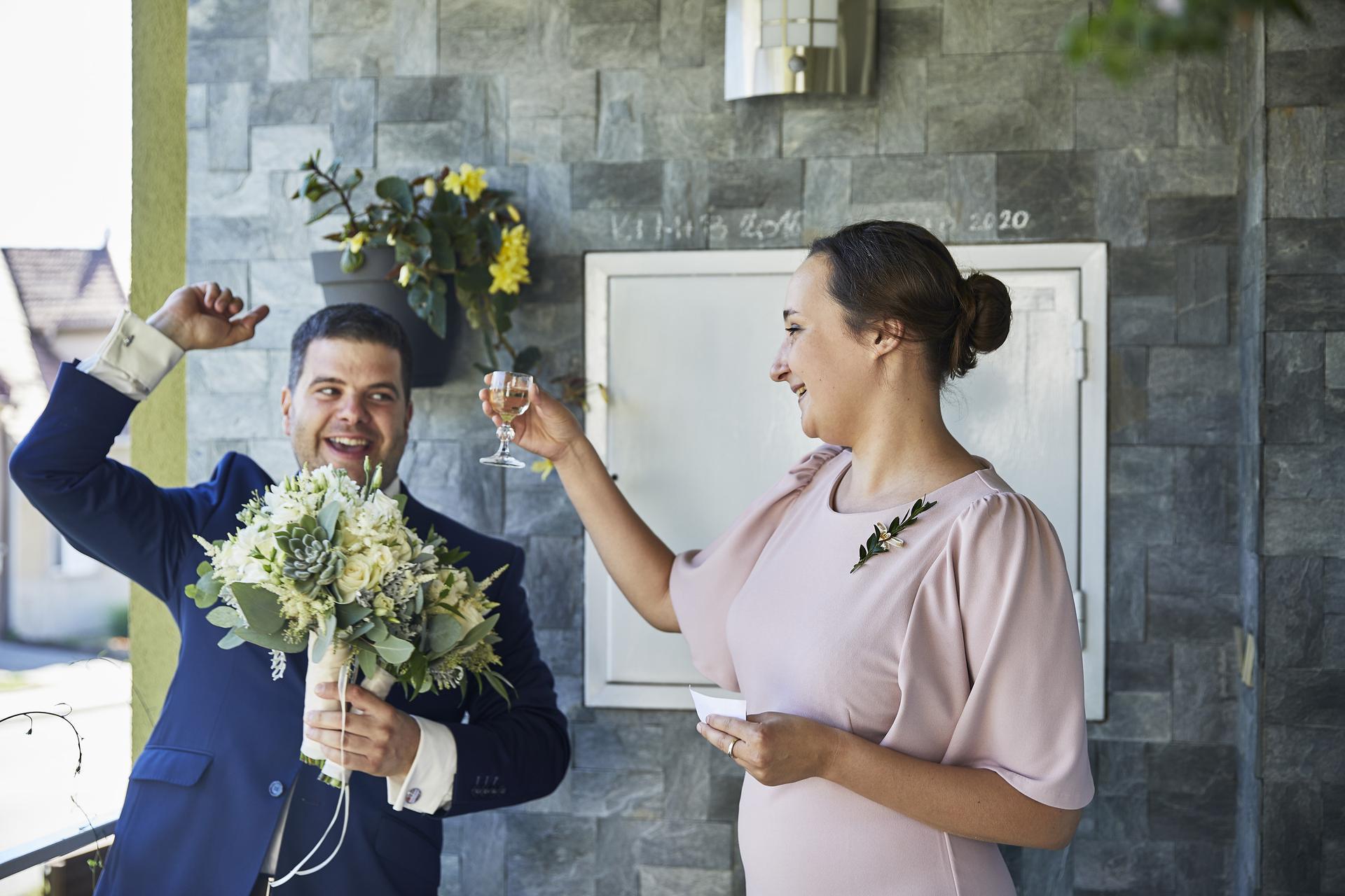Naše slovácká svatba - Přivítání ženicha