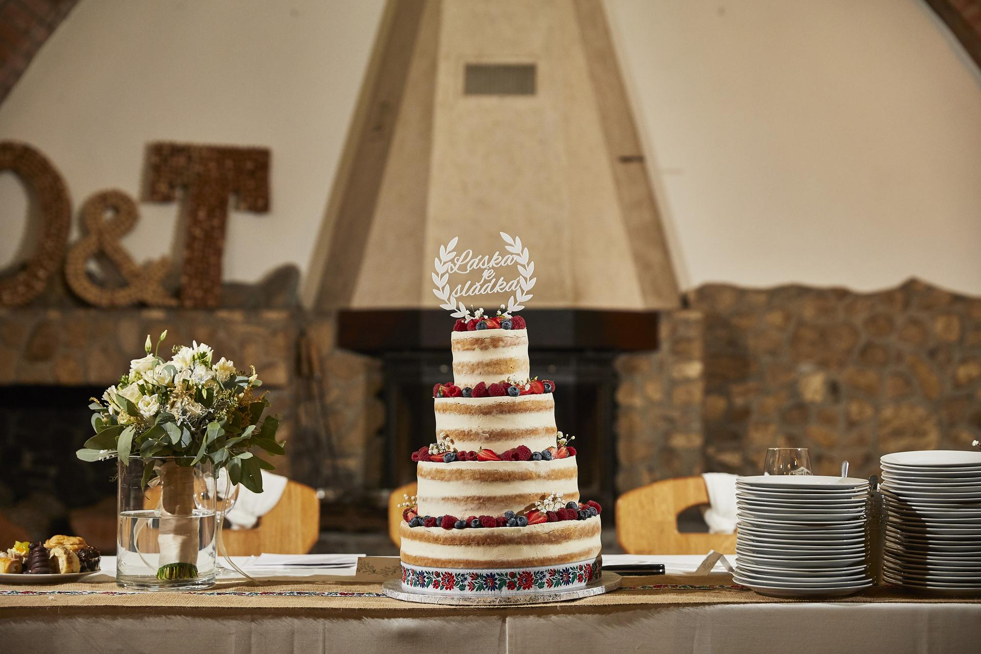 Naše slovácká svatba - Výborný dort!