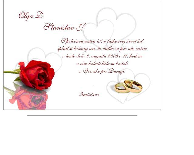 Priprava svadby - nase oznamenie