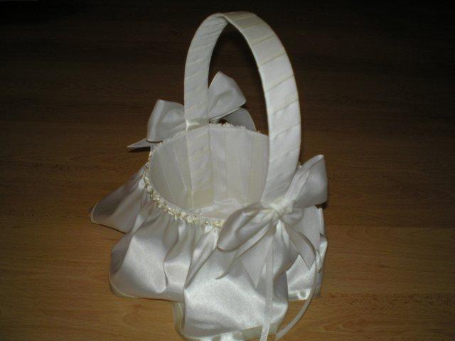 Priprava svadby - košíček na pierka